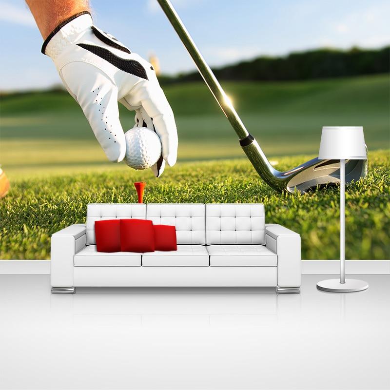 Papel tapiz de foto de Golf natural, pegatinas de Mural, papel de pared moderno 3D para decoración de sala de estar, hogar y oficina, papel tapiz de vinilo autoadhesivo/seda