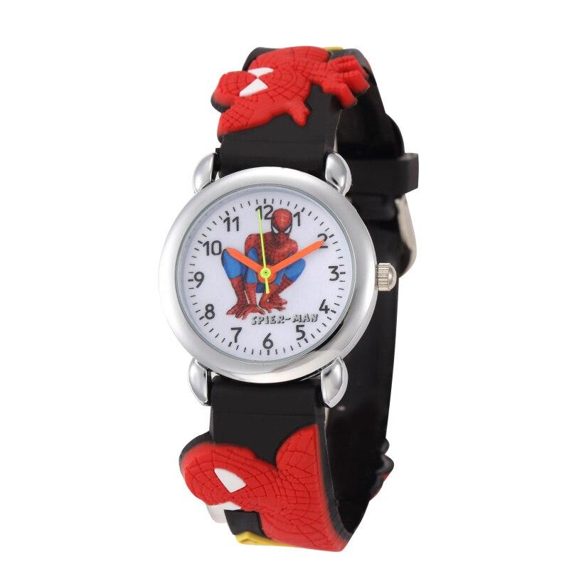Los niños relojes Reloj 3d superhéroe de dibujos animados Reloj Casual niños deportes relojes de cuarzo niños Reloj de pulsera Reloj Infantil