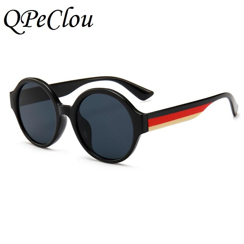 QPeClou Brand Three Colors Frame Round Sunglasses Women Men Unique Mirror Sun Glasses Female Male 2018 New Eyeglasses Oculos
