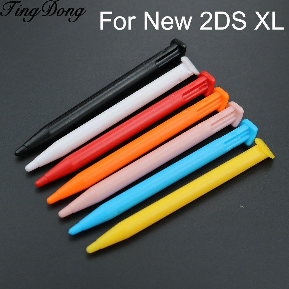 1 PCS Plastic Stylus Pen Caneta de Toque de Tela Do Console Do Jogo Definido para Nintend Novo 2DS XL/LL Lapiz Tátil jogo Acessório Do Console