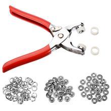 Bagues à griffes en métal   25, ensemble de 9.5mm, boutons à pression, attaches à pression + pince, Kit doutils de bricolage pour vêtements