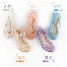 키즈 아기 소녀 여름 크리스탈 샌들 PVC 투명 젤리 공주 높이 증가 신발 파티 Streetwear 휴일