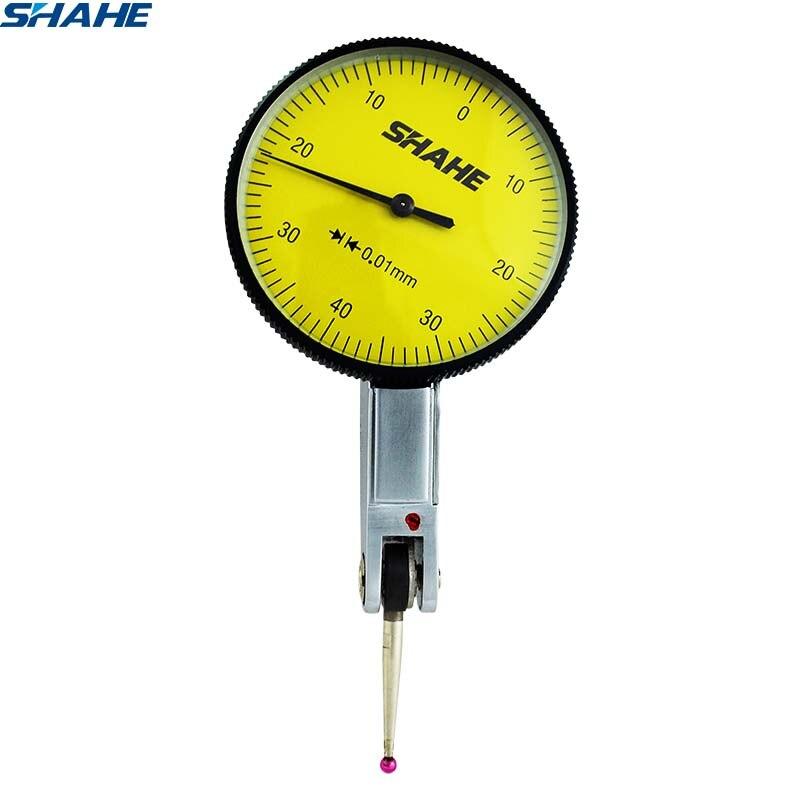 Herramientas de precisión shahe 0-8mm 0,01mm indicador de prueba de dial métrico con joya roja Indicador de dial de medición métrica