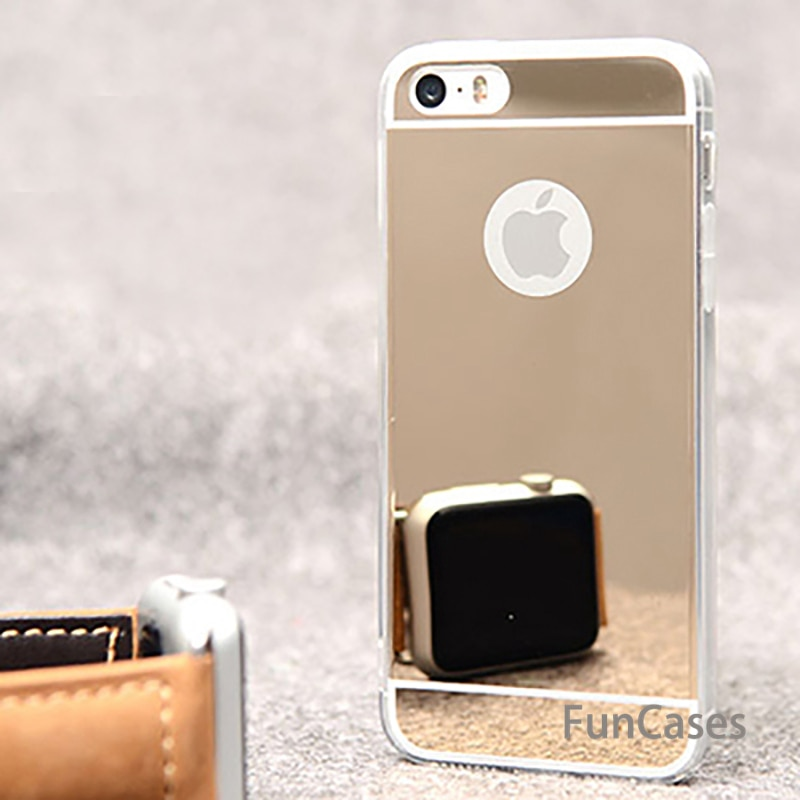Funda de espejo de galvanoplastia de lujo para iPhone6 6 S 5...