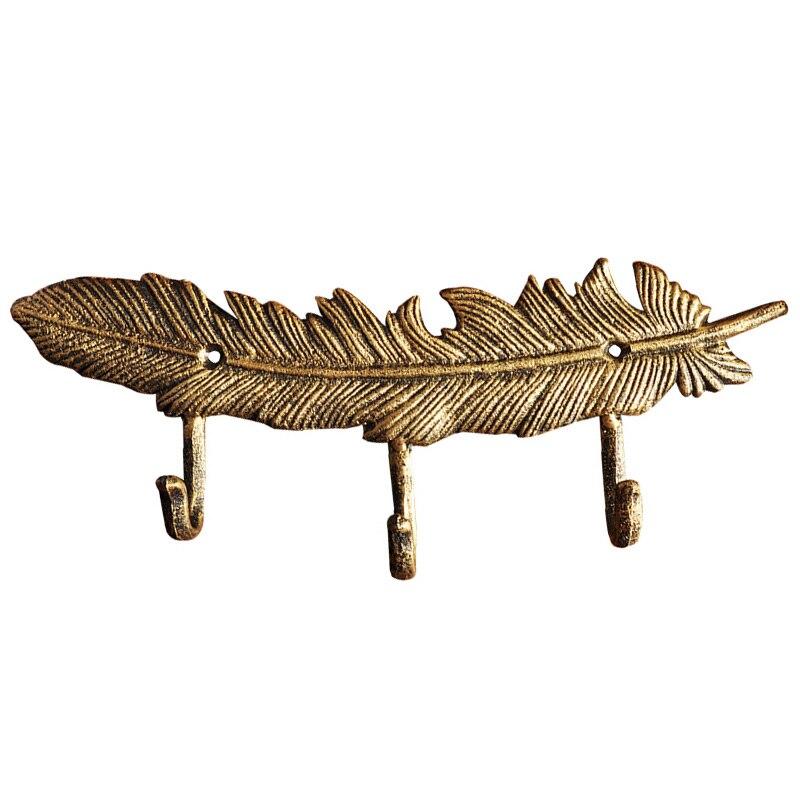 حلقة مفاتيح من الحديد المطاوع على الطراز الأوروبي ، خطاف معطف إبداعي ، زخرفة حرفية معدنية