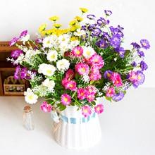 35cm Artificial Daisy Flower DIY Wedding Road Lead Flower Bouquet Home Table Decor Potted Cymbidium Daisy Home Party Supply
