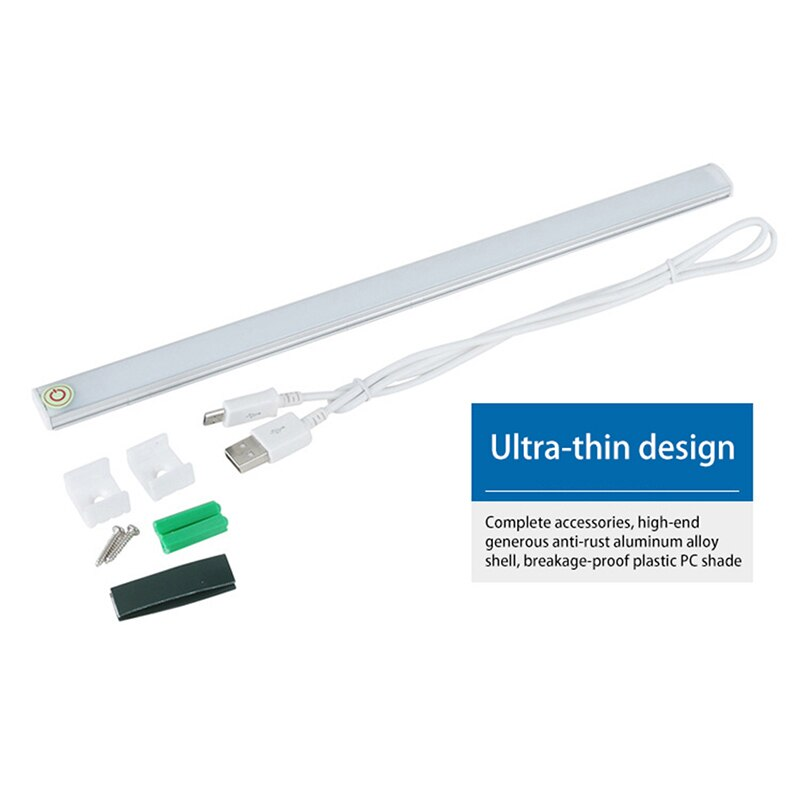 Seamless connecting LED Bar Light DC 5V Touch sensor Dimming Rigid Strip Light for Kitchen Under Cabinet Light Warm/White Lamp