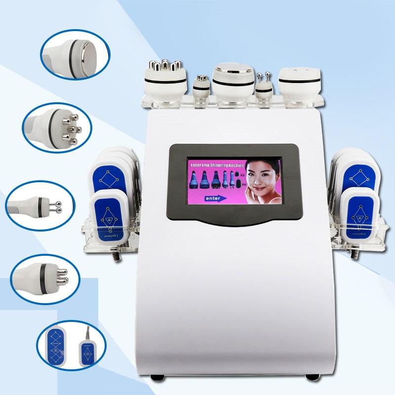 Novo Modelo 40 k 8 Pads lipo Que Slimming a Máquina de Vácuo lipoaspiração Ultra-sônica Da Cavitação Cuidados Com A Pele Equipamento Do Salão de Beleza Spa CE/ DHL