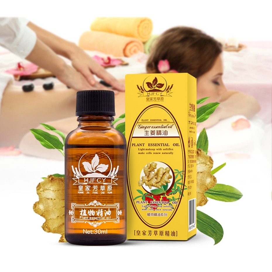 30ml HJFCY Natural Plant Therapy Lymphatic Drainage Ginger Oil Natural Anti Aging Essential Oil Body Massage To Help Sleep недорого