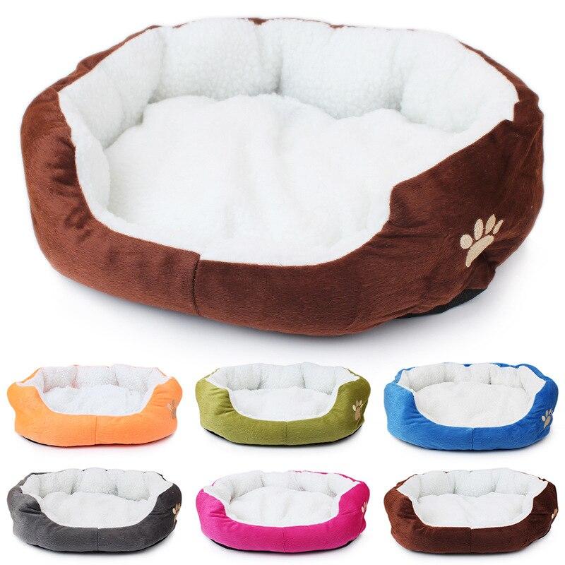 Mascota perro perrera invierno piel de oveja cálida suave materiales huella pata antiestática suave confort cama casa sofá tapizado cálido Doghouse