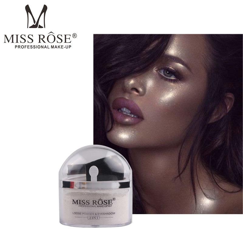 MISS Rosa cara resaltado polvo profesional contorno brillo paleta brillo oro plata iluminador brillo maquillaje