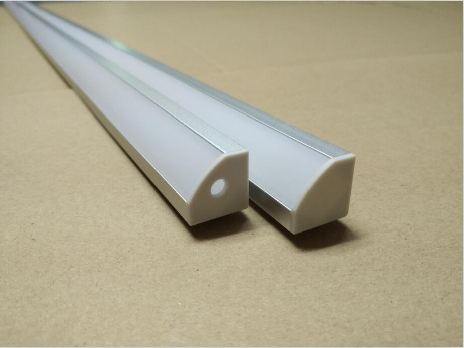 Frete Grátis 44pcs (88 m) um lote, 2m por peça difusa Anodizado/tampa transparente fino canal de perfil de alumínio levou para tiras de led de luz