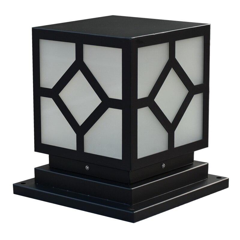 Column head light square simple prismatic door pillar outdoor waterproof landscape balcony lawn wall light enlarge