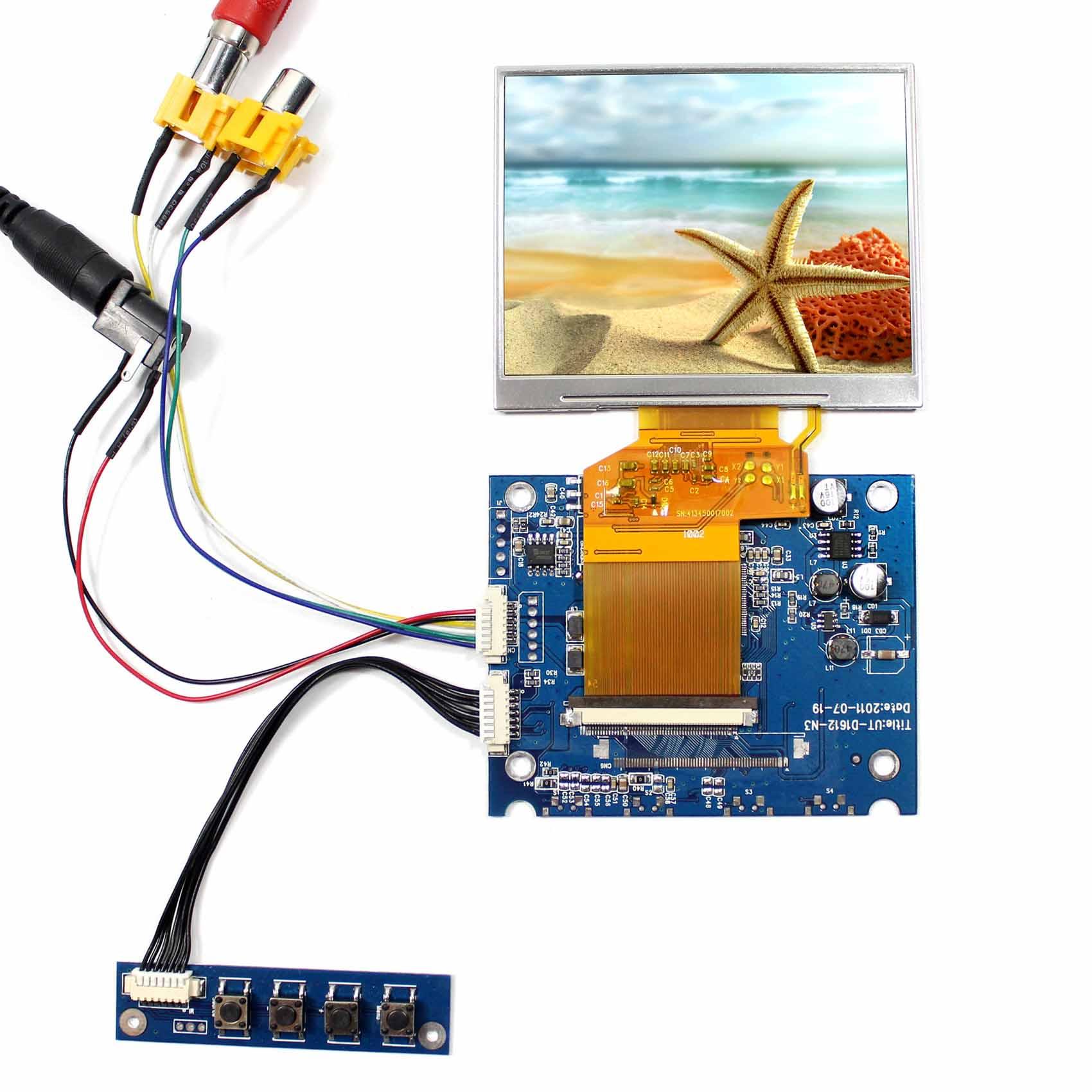 3.5inch LQ035NC111 320x240 LCD Screen with 2AV LCD Driver Board VS-D1612-N3
