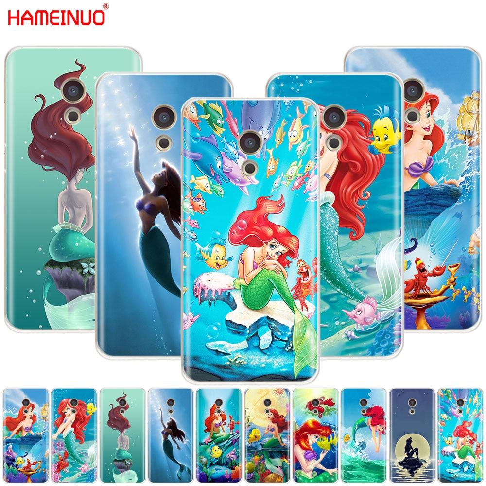 HAMEINUO de dibujos animados de la cubierta de sirena teléfono caso para Meizu M6 M5 M5S M2 M3 M3S MX4 MX5 MX6 PRO 6 5 U10 U20 nota plus