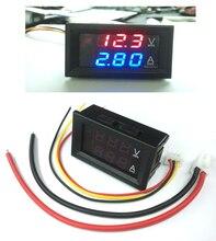 "Mini digital voltímetro amperímetro dc 100 v 10a painel amp volt tensão medidor de corrente tester 0.28 ""display led duplo vermelho"