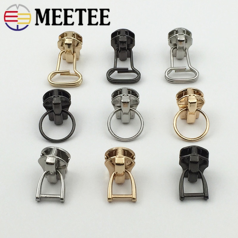 Encontro 5pcs 3 #5 # Sliders Zíper de Metal para Fechos de Metal Carteira Bolsa Zipper Cabeça Zip Kits de Reparo DIY Acessórios de Costura