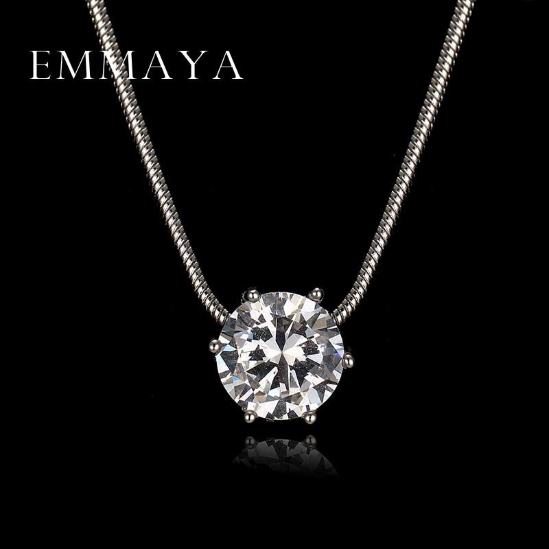 Emmaya lujoso calienta y flechas corte redondo collares con colgante de circón para las mujeres de la boda y joyas de compromiso