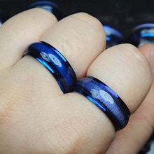 2014 New Free Shipping 15pcs Stainless steel Blue Enamel Cat-eye Fashion Women Mens Rings Wholesale Fashion Jewelry Lots A525