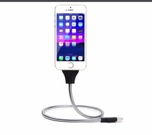 Chargeur de téléphone micro usb type-c Dock de voiture Charge de câble Flexible + support enroulé en un pour iPhone xs 7 6S Plus pour Samsung