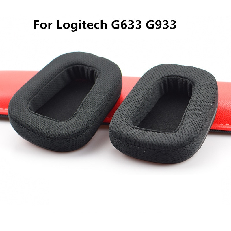 Memory Breathable Mesh Foam Ear Pads Cushions for Logitech G633 G933 Headphones High Quality Earpad 10.26