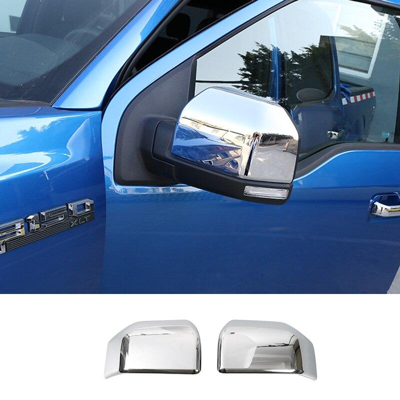 SHINEKA accesorios de Exterior para coche cubierta embellecedora de espejo retrovisor compatible con Ford F150
