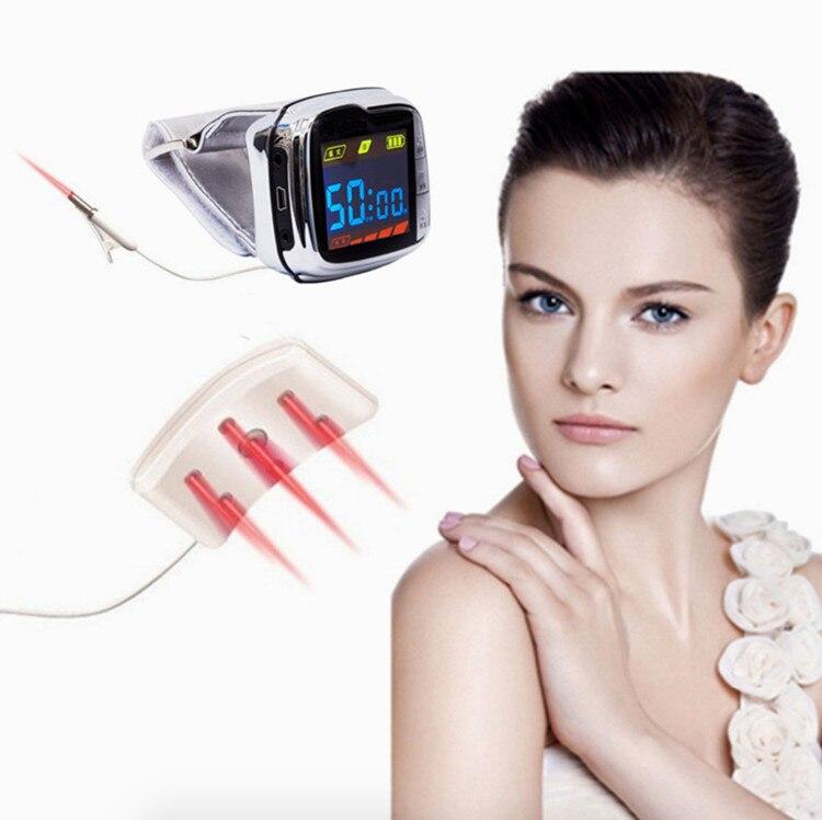 18 الحزم بيو 650nm الليزر لتخفيف الآلام ساعة معصم جهاز علاج الليزر لعلاج ارتفاع ضغط الدم ارتفاع ضغط الدم