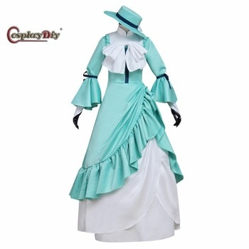 Cosplaydiy Anime Bungo Stray Dogs Margaret Mitchell Dress Costume Adult Women Halloween Carnival Cosplay Costume Custom Made J5