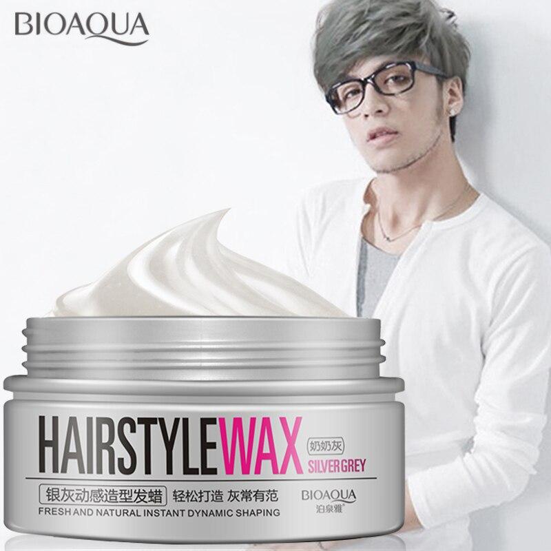 Pommades à cheveux professionnelles pour hommes et femmes, couleur argent gris, style hydratant, pelucheux, mat, stéréotypes, cire, Gel pour cheveux