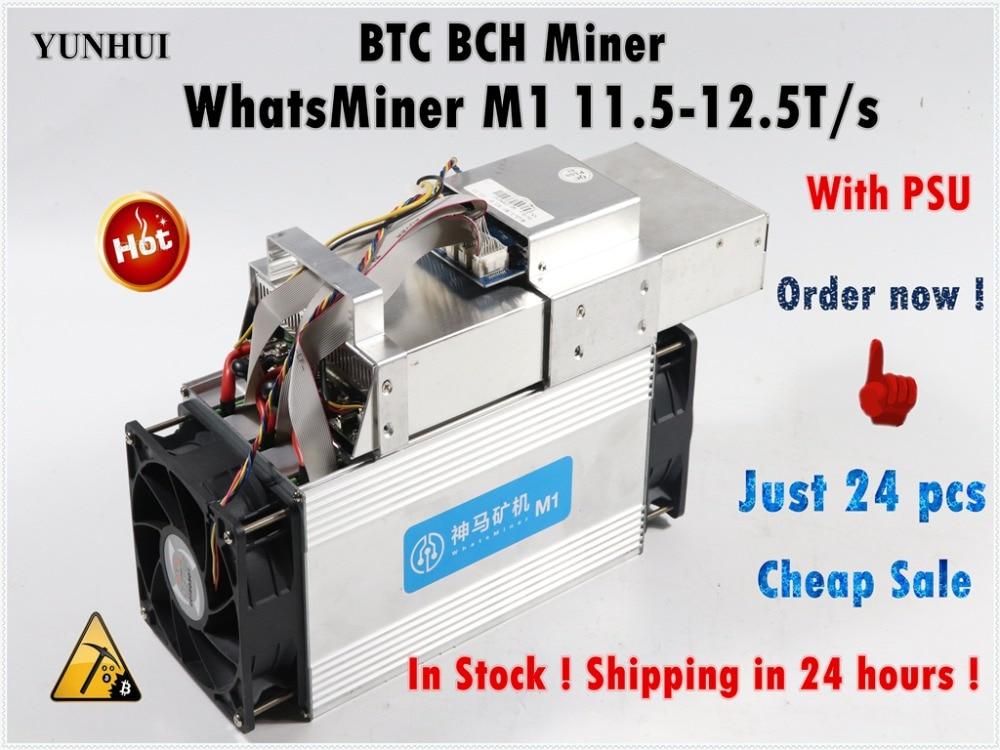 Usado btc bch mineiro asic bitcoin mineiro whatsminer m1 11.5 t-12.5 t econômico do que antminer s9 s11 s15 t15 z9 whatsminer m3 m3x m10