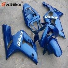 Carène de moteur en ABS personnalisé   Pour 2003-2004 ZX 6R 03 04 panneaux de moto commande + moule dinjection bleu