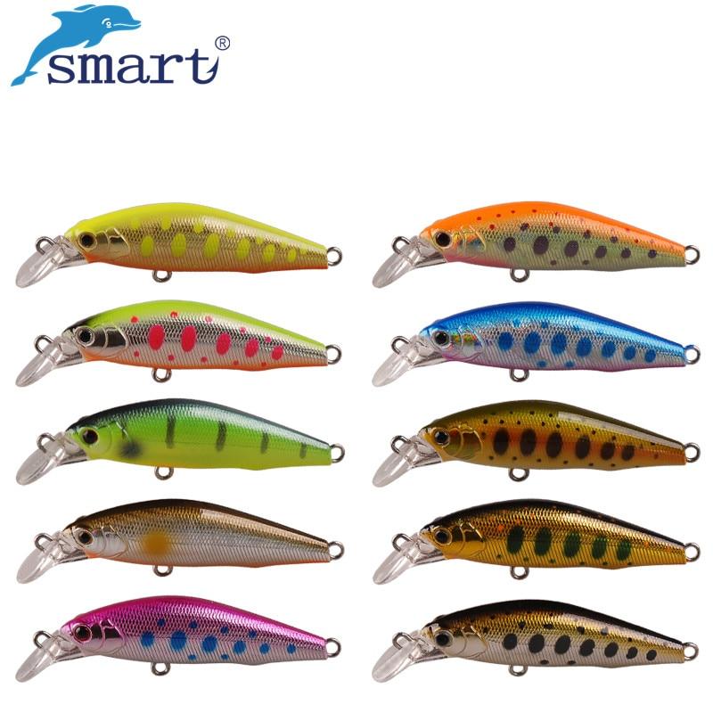 Smart Fishing lures 50mm/4.2g Sinking VMC Hook Minnow Bait Isca Artificial Fishing Wobblers Leurre Souple Peche A La Carpe Lure