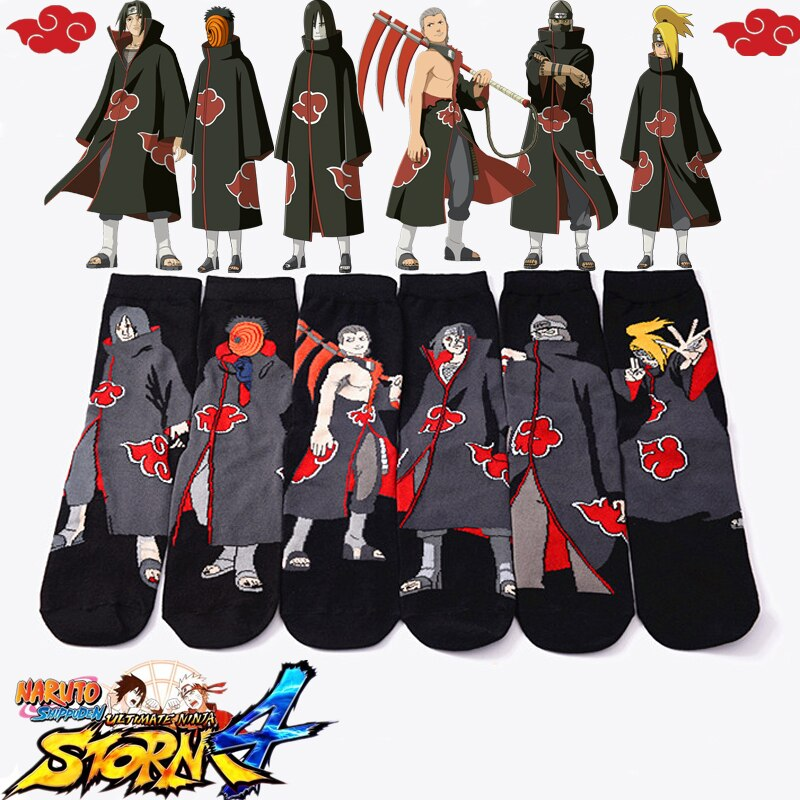 Naruto Akatsuki Cosplay Props Sock Uchiha Itachi Orochimaru Anime Spring Autumn Socks Women Men Halloween Party Gifts