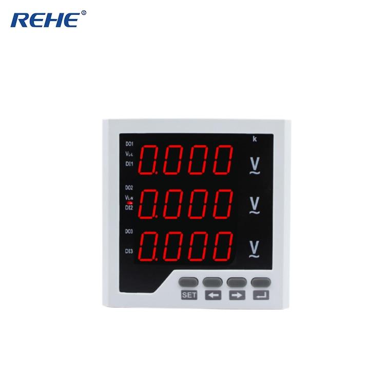 90 قطعة REHE RH-3AV33 لوحة رقمية حجم 96*96 ثلاث مراحل التيار المتناوب LED الفولتميتر شحن مجاني