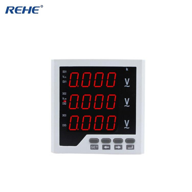 RH-3AV33 REHE con muestra gratuita disponible Panel Digital tamaño 96*96MM voltímetro LED trifásico CA