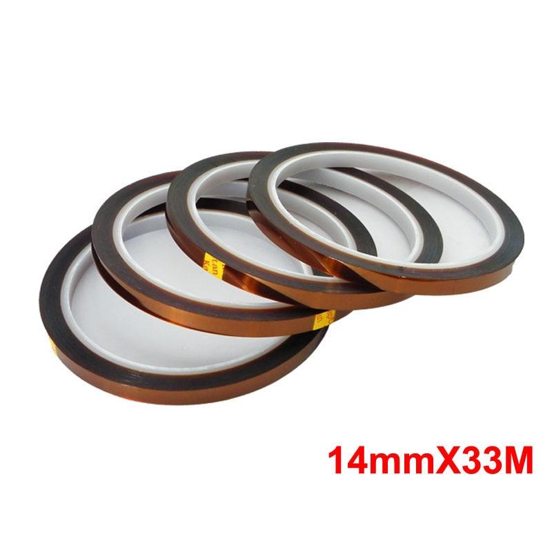 10 pcs 14mm Solda Blindagem Poliimida Fita Auto-adesiva de Alta Temperatura Resistente Ao Calor Fita Para BGA PCB SMT
