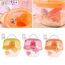 Cage de Hamster en plastique   Porteur de voyage Portable, pratique Cage de Hamster en plastique Durable, Habitat de vie de Hamster, maison