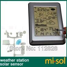 Misol/Профессиональная беспроводная погодная станция, сенсорная панель с солнечным датчиком, с интерфейсом ПК