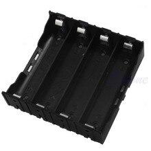 1 PC 4x 18650 Li-ion Battery Storage Plastic Clip Holder Case Box 8 Pin Contact Black