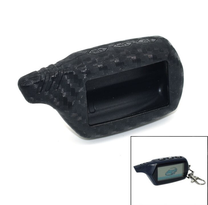 Carcasa de carbono B9/B6 para Starline B91/B61/A91/A61 KGB FX-5 Jaguar ez-one LCD llavero con alarma remota de 2 vías