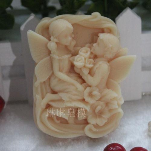 Moldes para jabón de silicona Grainrain, moldes para velas de arcilla polimérica artesanales flexibles de hadas