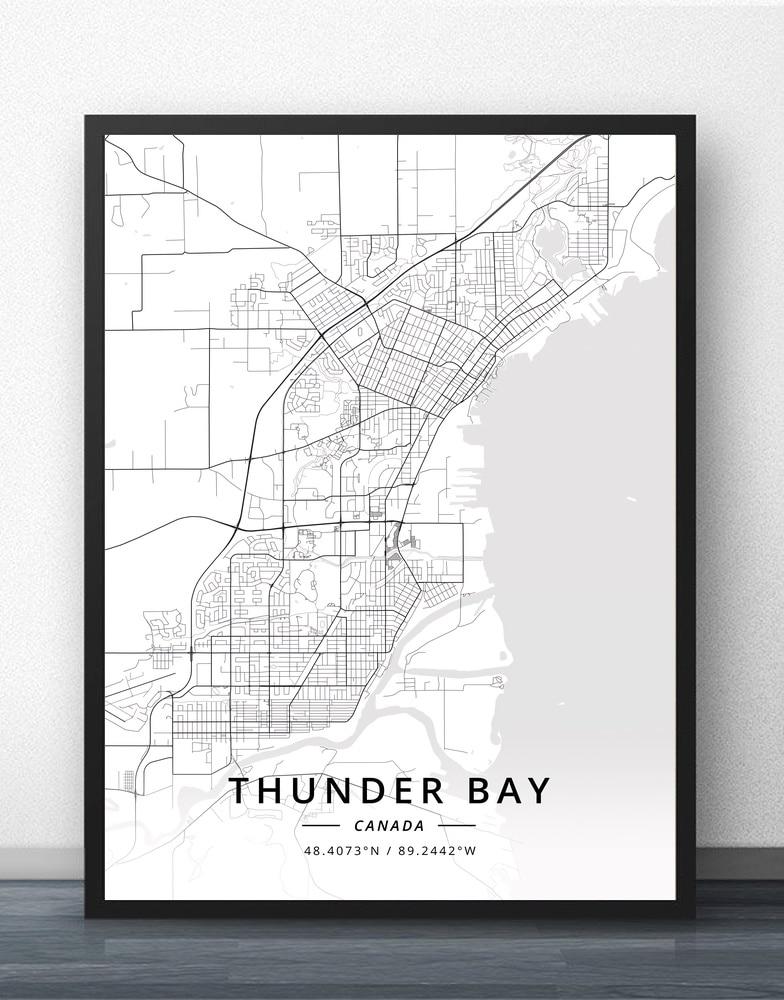 Thunder bay toronto trois-rivieres vancouver victoria winnipeg canadá mapa cartaz