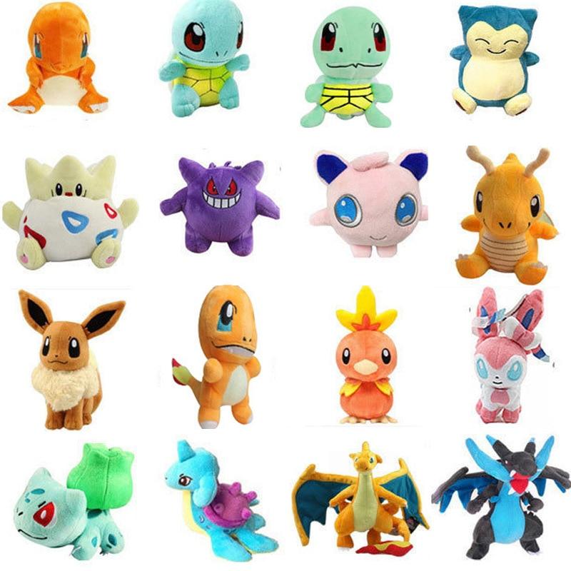 1 piezas 13-22cm lindo dibujos animados de peluche Pokémon muñecas niños bebé juego Anti-estrés juguete regalo para los niños