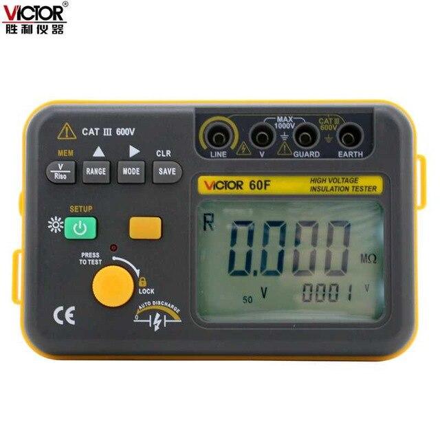 Sieg echten digitalen isolierung widerstand tester VC60F digitale Mega ohm meter isolierung tester 2500 V