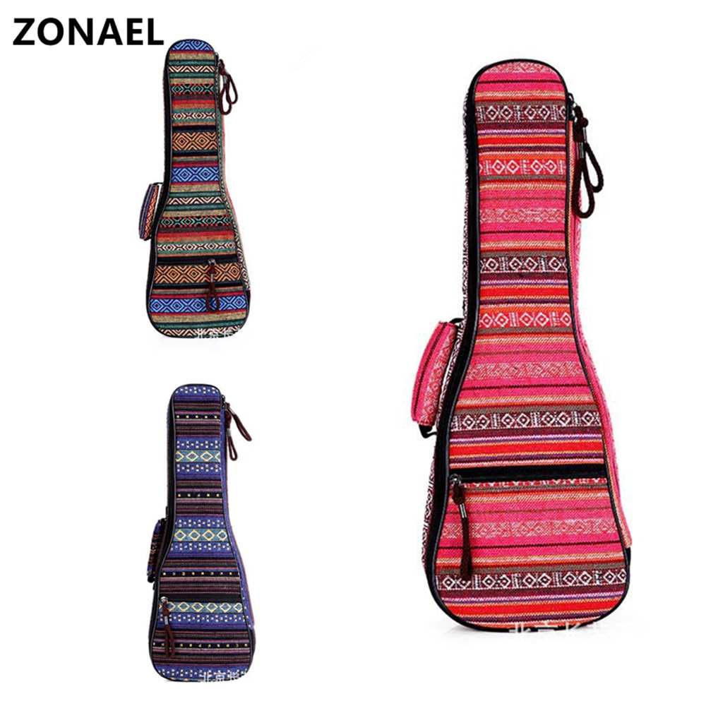 ¡Nuevo! mochila Ukelele de 21 23 26 pulgadas de estilo étnico de punto, mochila con doble correa de hombro, Estuche de transporte acolchado de algodón, BAG002