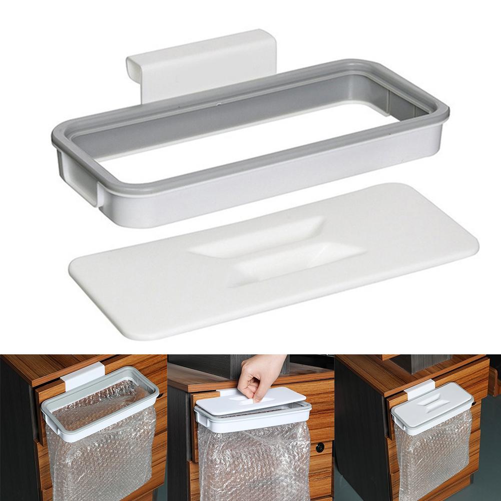 Bolsa de basura de cocina, estantes de almacenamiento, soporte de gabinete, bolsas de basura, organizador, cocina, contenedor colgante, organizador de cocina