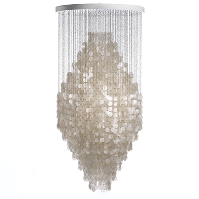 Moderne Weiß Capiz Shell Kronleuchter Beleuchtung Glanz Anhänger Lampen Restaurant Hängen Lampe Licht kithcen Leuchte leuchte avize