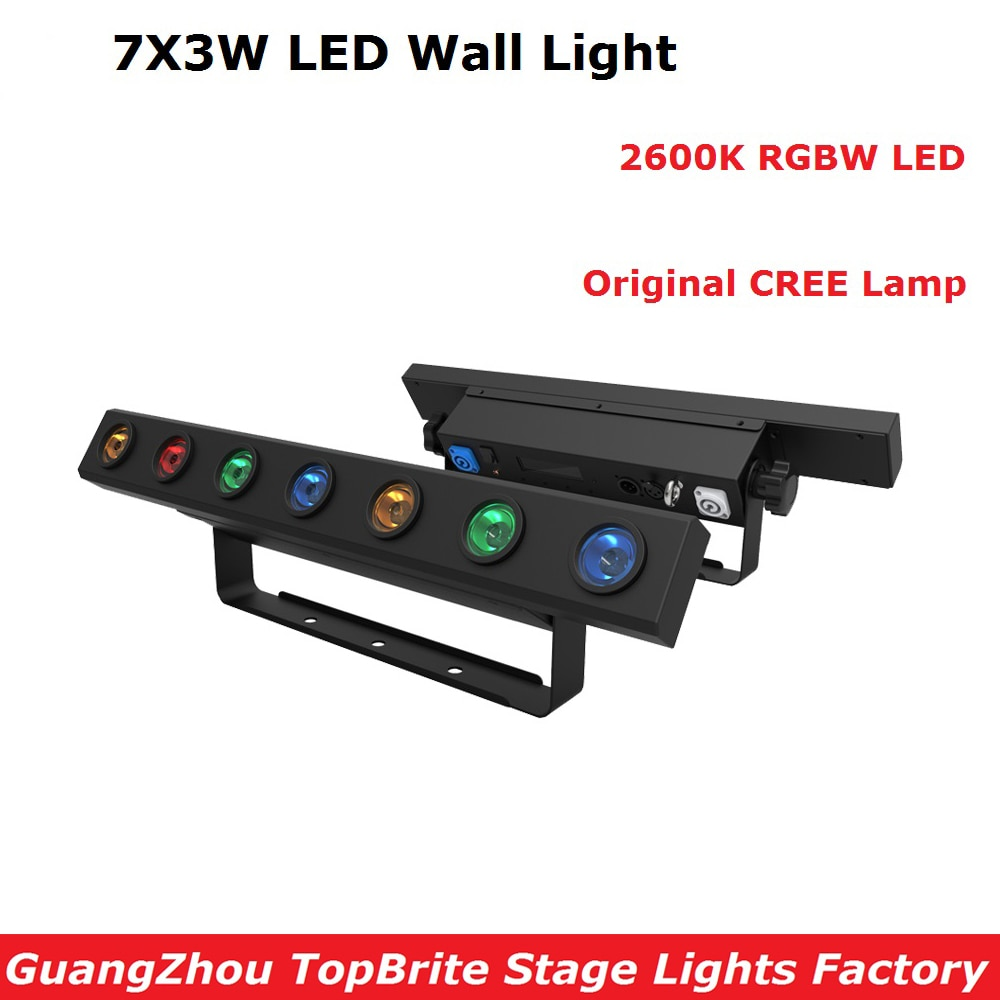 New Arrival 1XLot LED Stage Lights 7X3W RGBW Quad Color LED Bar Light DMX512 High Quality Indoor Entertainment Equipments
