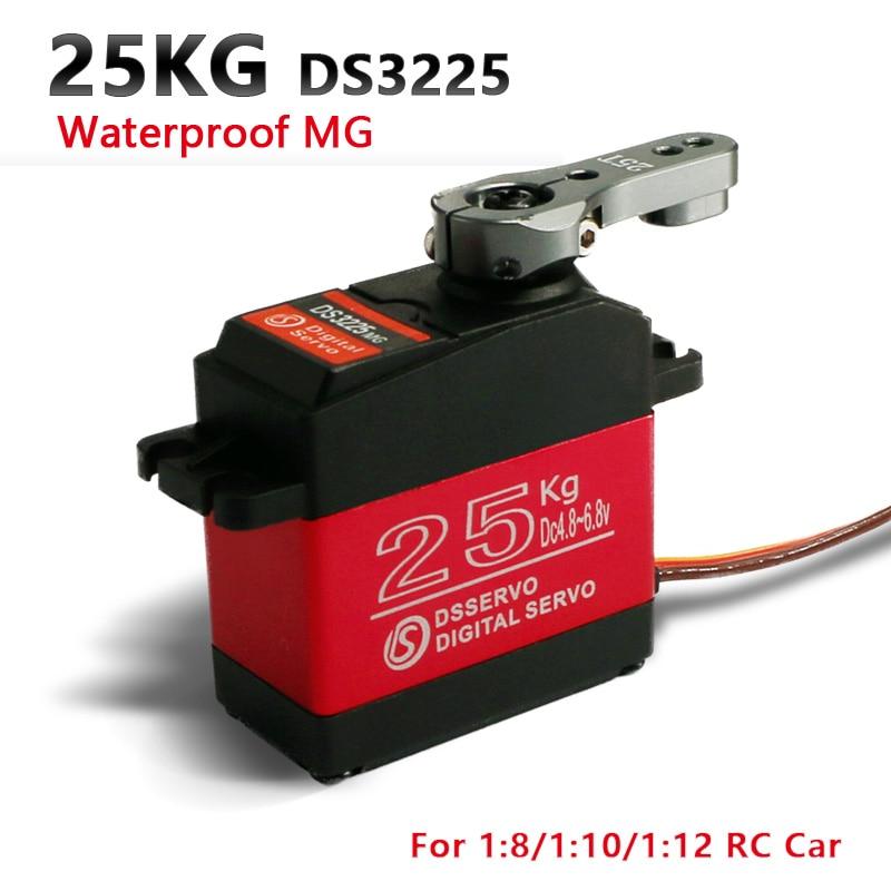 1X RC servo 25KG DS3225 core or coreless digital servo Waterproof servo full metal gear baja servo for baja cars and rc cars