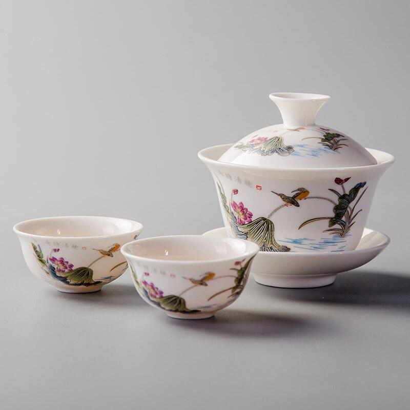 Juego de tazas de té de porcelana China Kung Fu, de 22ML, 1 Uds., cerámicas, servicio de té, juego de té de alta calidad, tazón de té, tazas y platillos, Drinkware D054